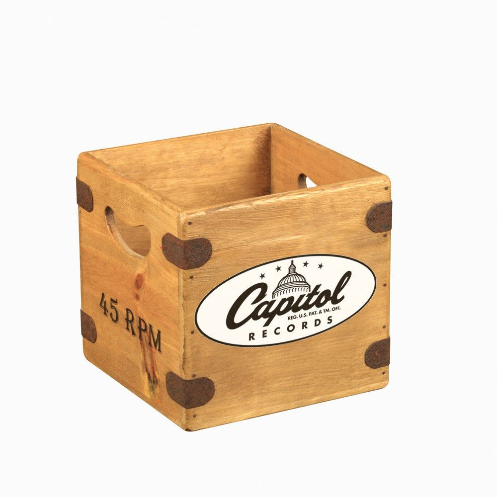 "Captiol 7"" Record Box Singles Vintage Wooden Crate"