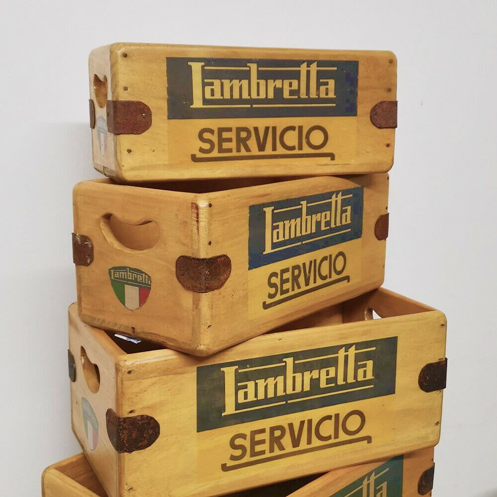 Classic Lambretta Box  Handcrafted Wooden Crate