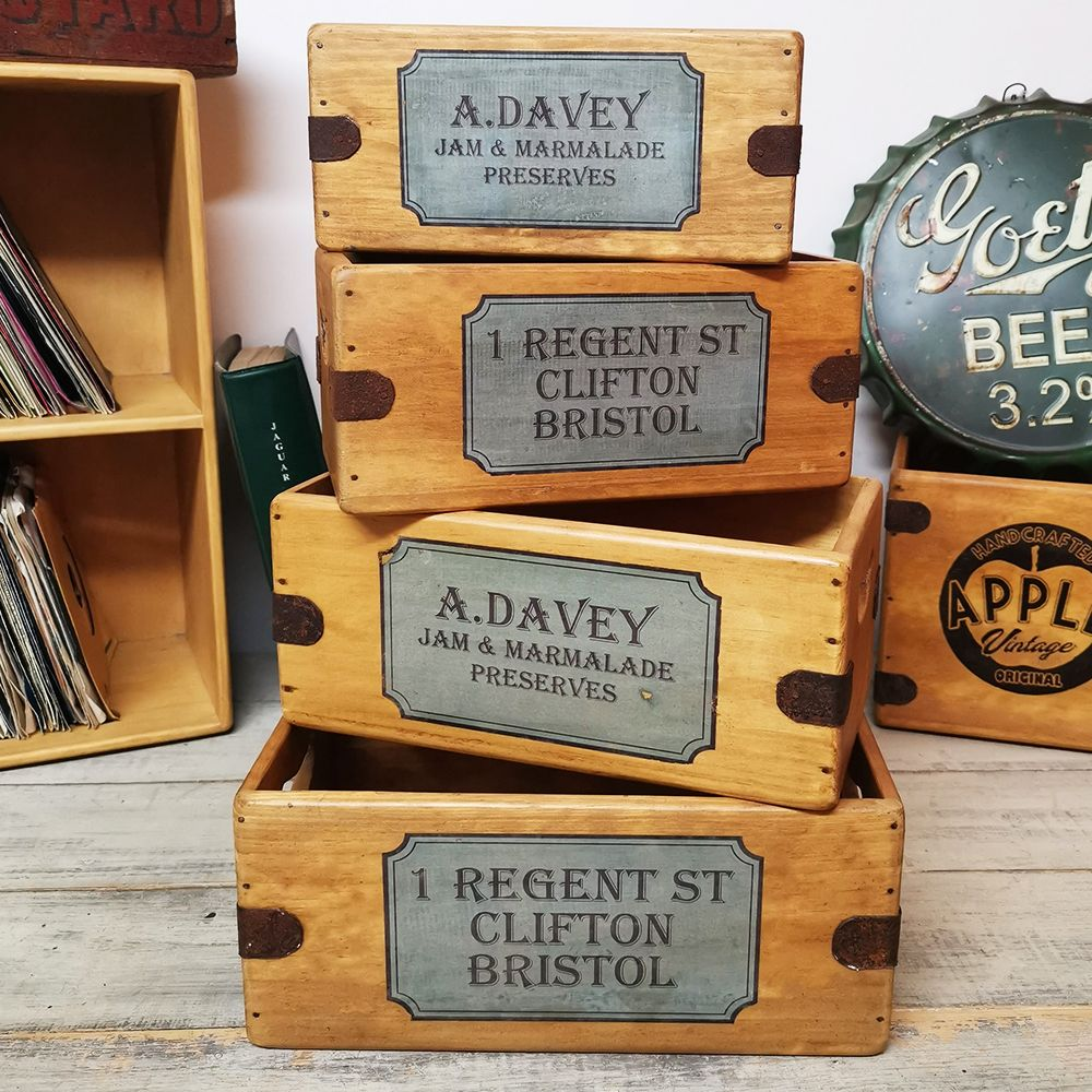 Clifton Bristol Davey's Preserves Rustic Boxes