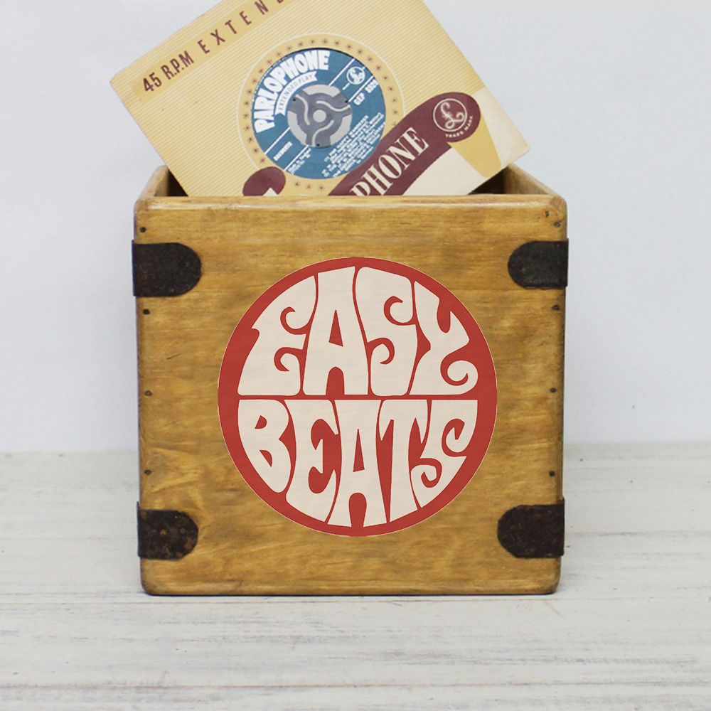 "Easy Beats 7"" Record Box Vintage Vinyl Crate"