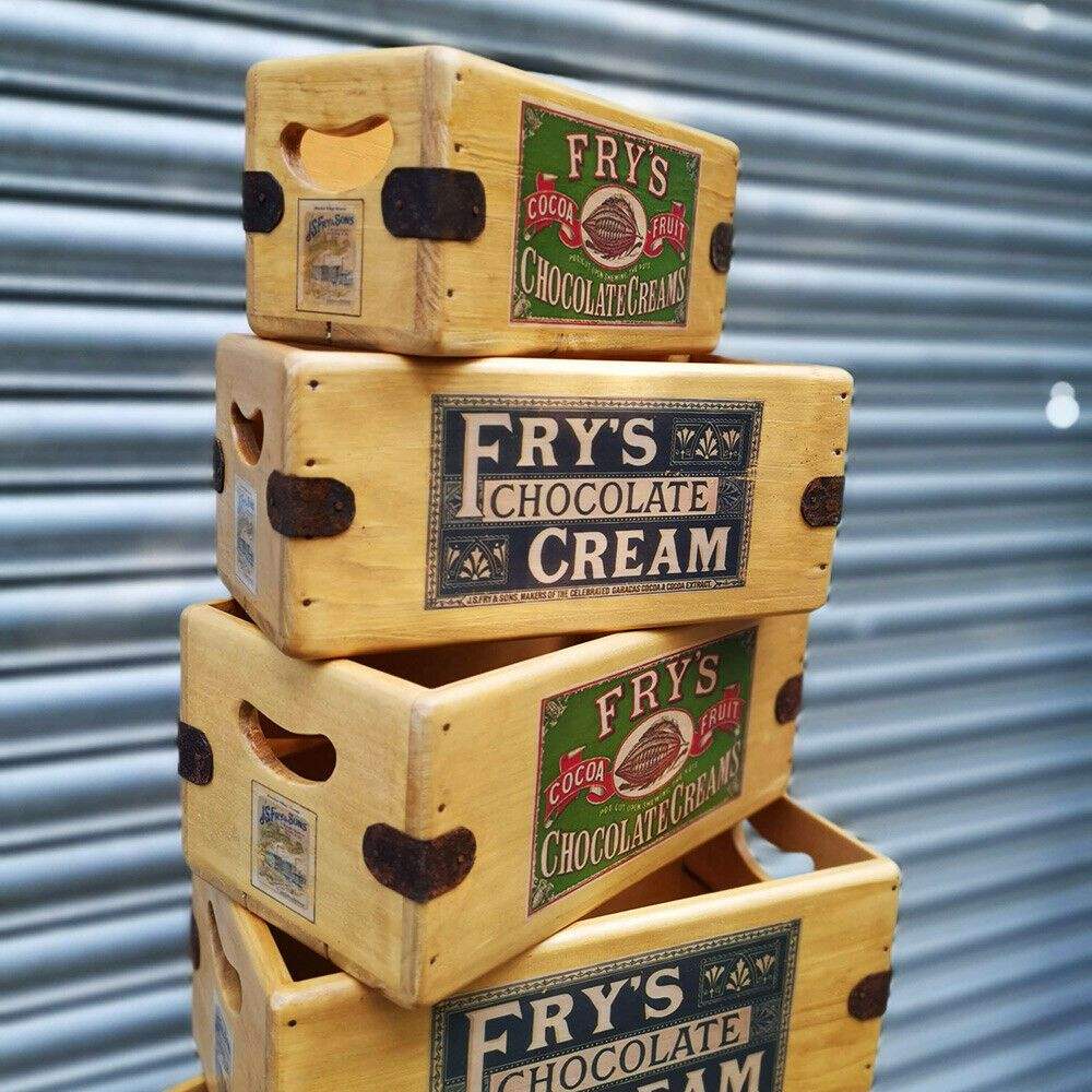 Fry's Chocolate Vintage Box Wooden Crate Shop Display Gift Hamper
