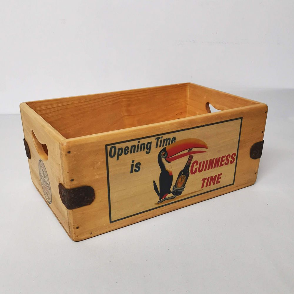 Guinness Toucan Vintage Box Retro Wooden Advertising Crate
