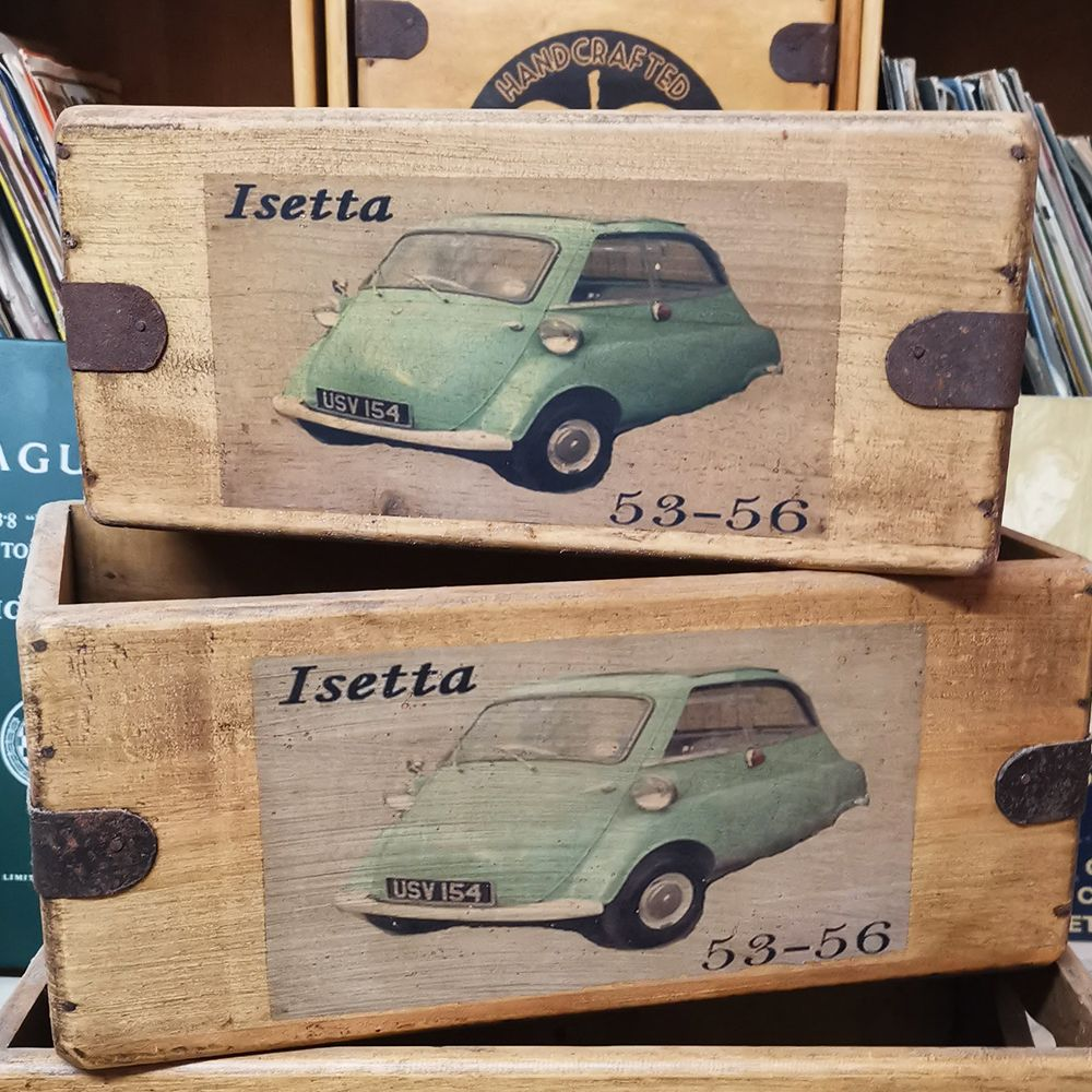 Isetta Bubble Car Box Vintage Wooden Classic Car Crate