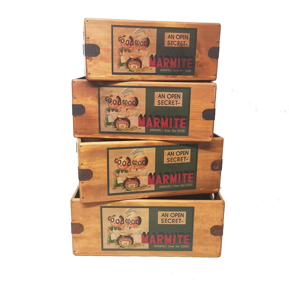 Marmite Box Wooden Display Crate