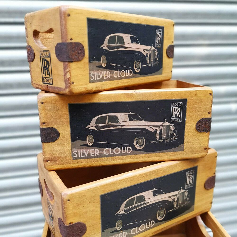 Rolls Royce Silver Cloud Box Vintage Wooden Crate Classic Car Gift
