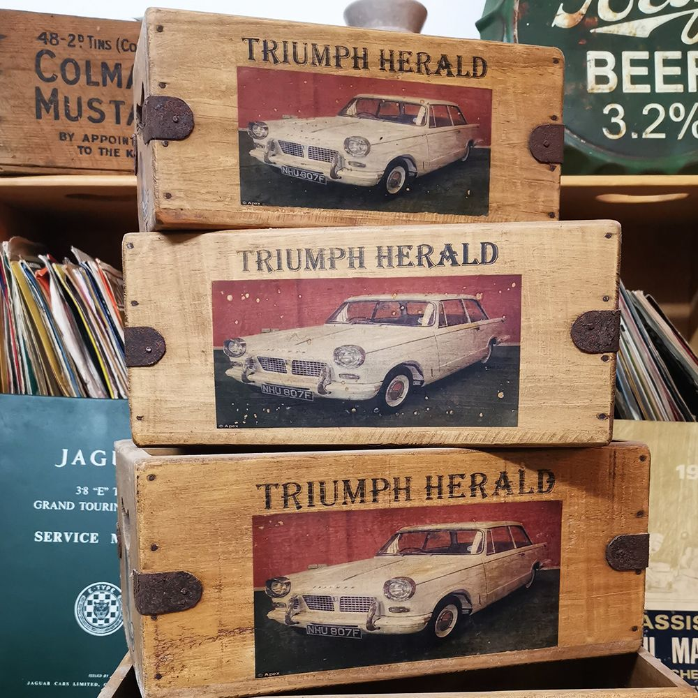 Triumph Herald Box Vintage Wooden Classic Car Crate