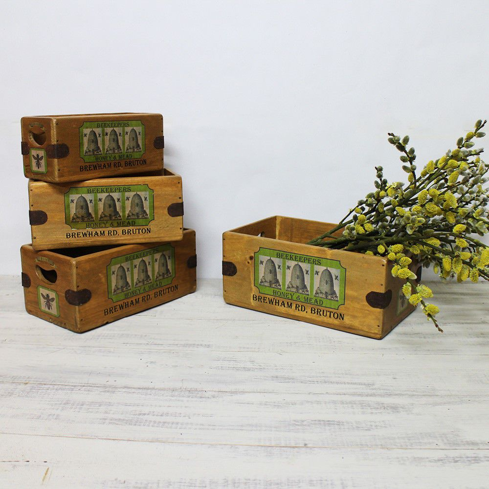 Wells Somerset Honey Farm Vintage Box